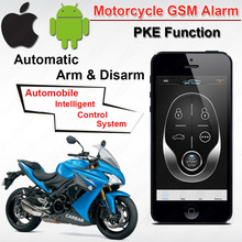 IOS Android Waterproof Motorcycle Motor GSM GPS Tracking Alarm with PKE Function  Automatic ARM Disarm Overspeed Shock ACC Alarm