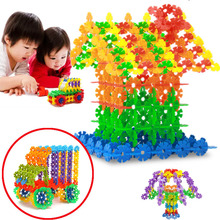 150pcs Multicolor Snowflakes Model Building Block Snowflake For Kid Baby Creative Early Educational Toys Head Start Training