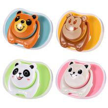 1 pc Baby Pacifier Cute Cartoon Silicone Nipple Breast Milk Design Pacifier Dummy Nipple Teethers Toddler Animal Shape Pacifier(China)