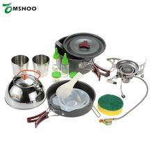 BRS Portable Cooking Pot Frying Pan Frypan Cup Teapot Sets Cookware Split Windproof Gas Stove Furnace Camping Picnic Outdoor Set