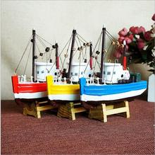 2017 New Model Wooden Crafts Sailing Model  Decorations Sailboat Model Ship Flattle 16*4*16cm smooth sailing three colors