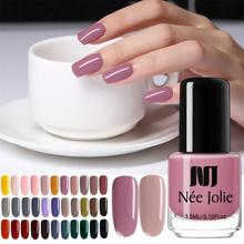 PKR 112.09  49%OFF | NEE JOLIE Nail Polish  Coffee Gray Red Series Nail Varnich Pure Nail Color Nail Art Polish Lacquer Decoration 7.5ml 3.5ml