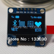 1.3 inch 128X64 OLED display module blue on black 3-wire SPI 4 wire SPI IIC interface SH1106 driver blue oled