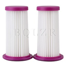 BQLZR 2pcs Purple Vacuum Cleaner Cartridge Pleated Efficient Dust HEPA Filter