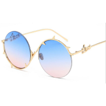 2017 fashion new metal round frame thorns border sunglasses Europe and the United States trend men and women with sunglasses(China)
