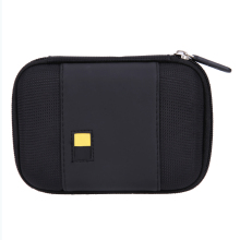 Portable Lightweight Hard Sailcloth PU Cases Carrying Hard Drive Bags Black Case for 2.5 inch External Hard Drive Storage(China)