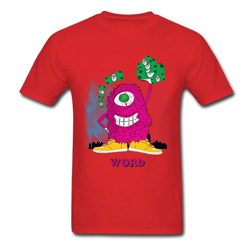 One eyed monster graphic t-shirt hoodies sweatshirts and more_red