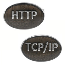 HTTP TCP/IP Cufflink Cuff Link 4 Pairs Wholesale Free Shipping