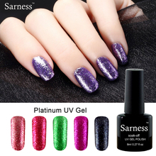 Sarness Foil Adhesive Lucky Color Gel Lacquer Professional Platinum UV LED Gel Nail Polish Long Lasting UV Gel Varnish for Nails