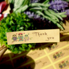 100PCS THANK YOU Owl design Sticker Labels Seals Gift stickers for Wedding seals Party Christmas Deco