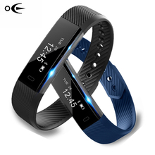 Smart Bracelet Fitness Tracker Heart Rate Monitor Smart Wristband USB charge Vibration Wristband watch for ios and Android phone