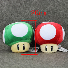 2 Style Large size 20cm super mario toad mushroom stuffed plush pendant Toy