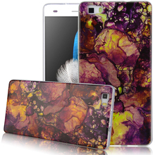 Spotted marble pattern TPU Case for Huawei P8 lite/P9 lite Ultra-Thin Anti-Scratch Shock Proof Dust Proof Anti-Finger Shell
