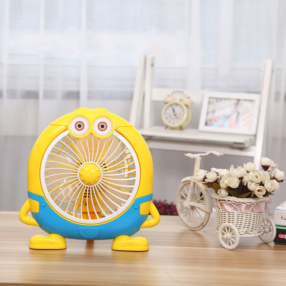 High Quality Mini Fan 220V Desktop Minions Electric Fan  20W Save electricity Ventilador For Home Dormitory <br>