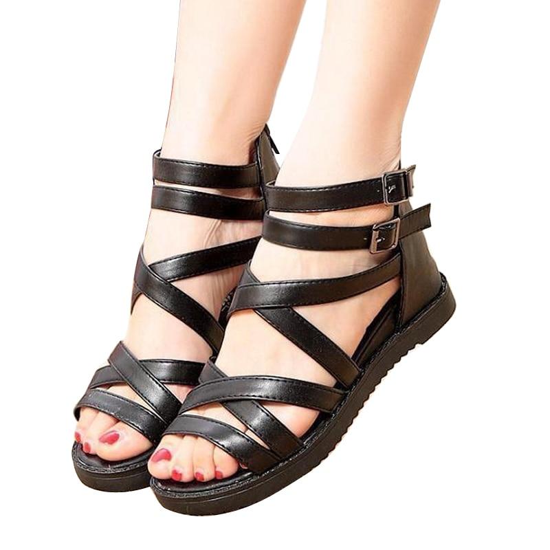 Женские сандали без каблука