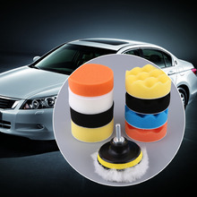2017 Professional 3/4/5/6/7 Inch 11pcs/set Automobile Car Polishing Pad Set M14 Vehicle Cleaning Washing Polish Sponge Wheel