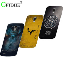 Cute Cartoon Case For Samsung Galaxy S4 Active i9295 i537 Hard Plastic Case Fashion Printed Football Cover Game of Thrones 7