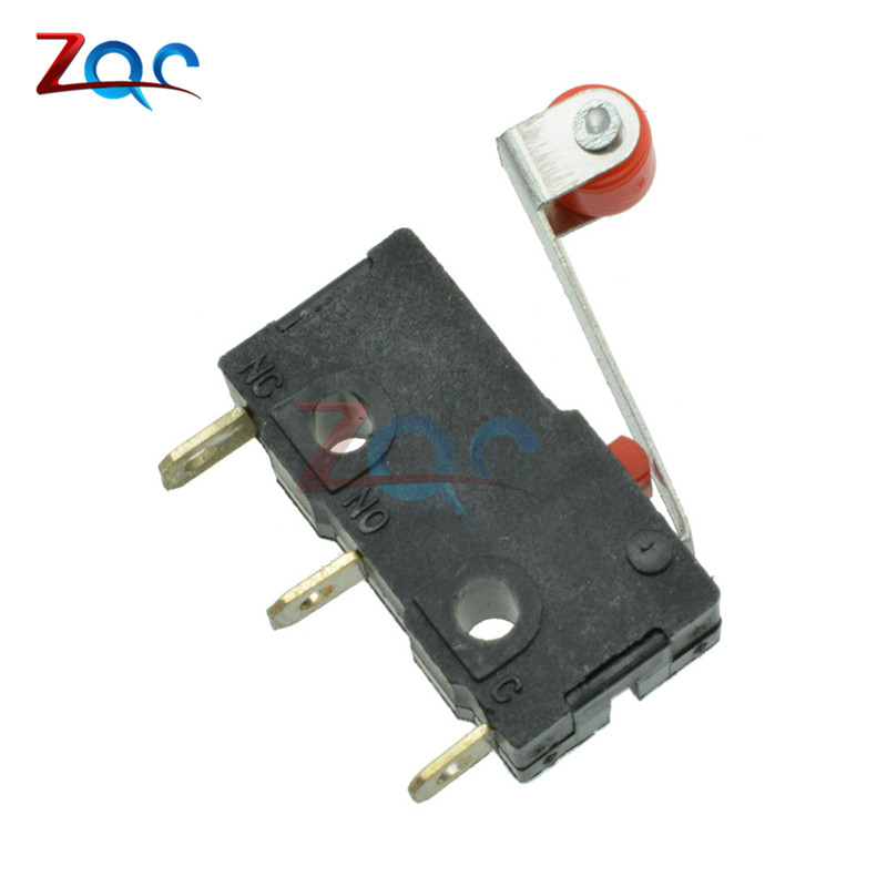 10Pcs Micro Roller Lever Arm Open Close Limit Switch KW12-3 PCB Microswitch D BH