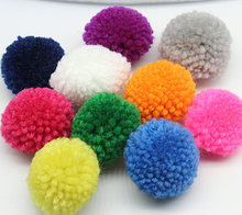 150pcs 40mm 1.5 inches yarn Pom Pom multi Colour Ethnic charms Traditional supplies(China)