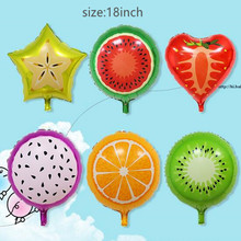 50pcs 18 inches Fruit Aluminum Foil Balloons Strawberry Helium Ballons Children Inflatable Toys Birthday Wedding Party Decor(China)