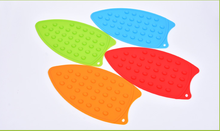 Colorful Kitchen Silicone Placemat Coasters Iron Hot Protection Stand Mats Pads Heat Resistant Boards Homeware Kitchen Supplies(China)