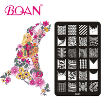 10pcs/lot 24 Different Patterns DIY Nail Art Stamping Printing Machine CK13(China)