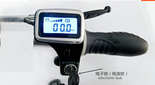 twist throttle grips led display screen lock & key switch accelerator gas handle electric bike scooter moped trike