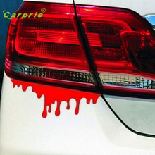 Auto Cool car stickers Red Blood DIY vehicle Body Emblem Badge car styling Sticker car-covers personality auto accessories Jul14