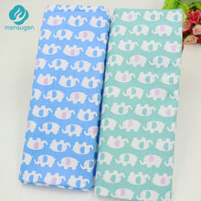 Half meter 50*160cm Cute Elephant Cotton Fabric For Sewing Patchwork Cushions Bedding Sheet Tilda Doll Cloth Quilting Crafts
