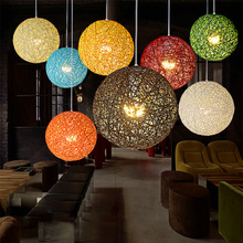 Hemp Ball Chandelier European Fashion Contracted Contemporary Dining room Light Rural Cany Art Pendant Lamp Sitting Room Bedroom(China)