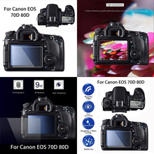 Mayitr 2pcs Camera Tempered Glass Screen Protector HD Clear PET LCD Guard Film For Canon Camera EOS 70D 80D