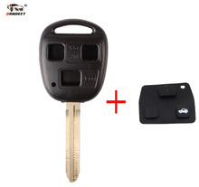 DANDKEY Remote Key Blanks Custom fobs Key Shell For Car Toyota 3 Buttons With Toy43 Blade(China)