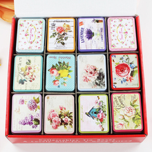 Big Flower Mac Makeup Storage Box 24Piece/Lot Metal Candy Tea Chocolate Container Macaron Treasure Chest Best Gift For Girl