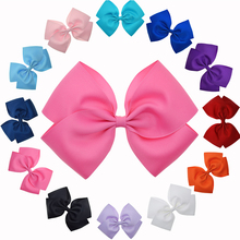 12 Colors 6-6.5 Inch Oversized Hair Bows For Women Girls Juniors DIY Fabric Bows Fashion Hair Pin Hair Accessories(China)