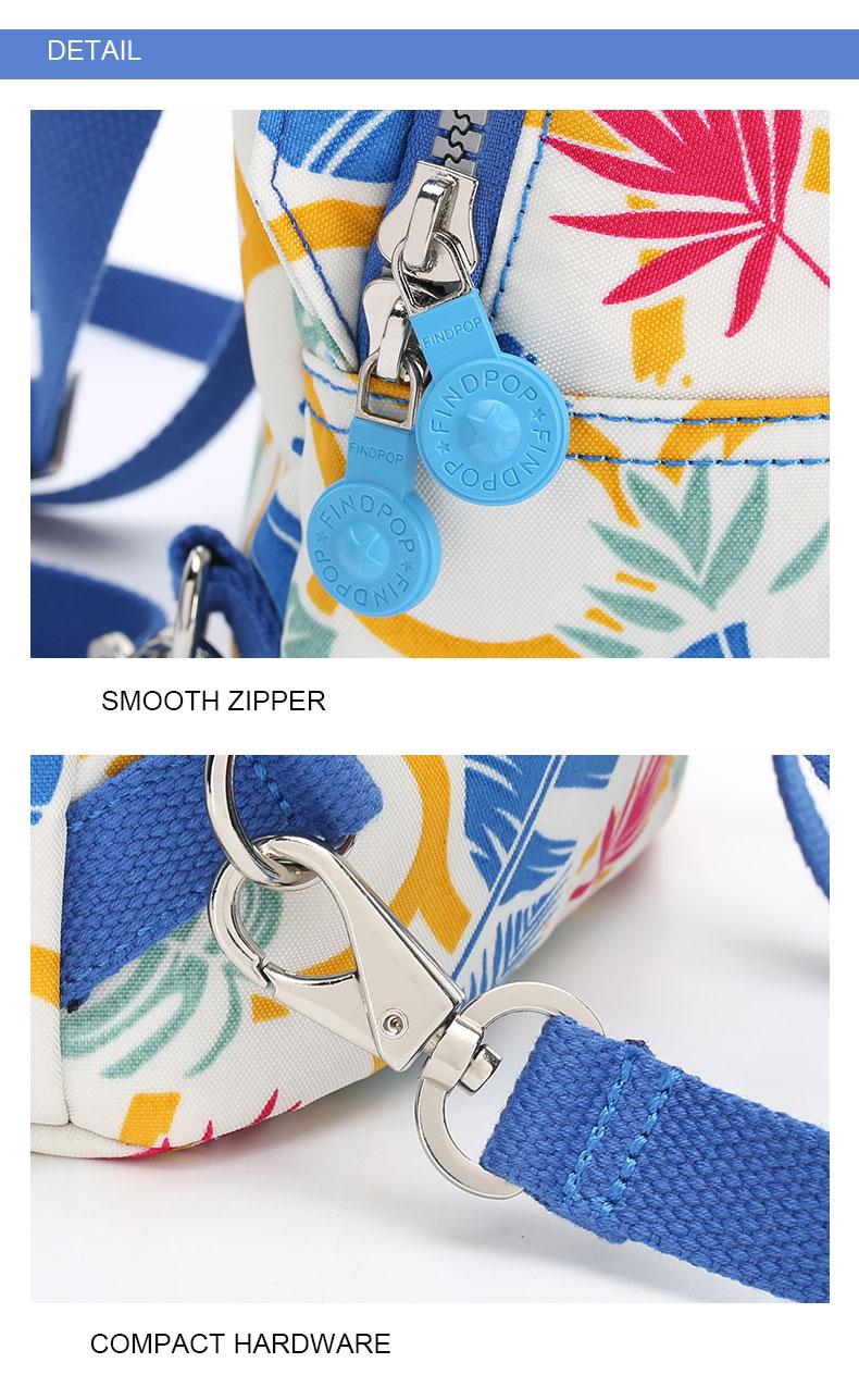 Findpop Mode Casual Sac À Dos Femmes 2018 Nouveau Étanche Mini Sac À Dos Pour Femmes Toile Floral Imprimé Petit Sac À Dos Pour Filles 19