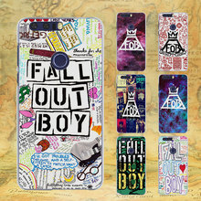 fashion Fall Out Boy bands logo style transparent Thin phone Case for Huawei Honor 7 8 lite V8 for Honor 6 5X 4X 5 5C