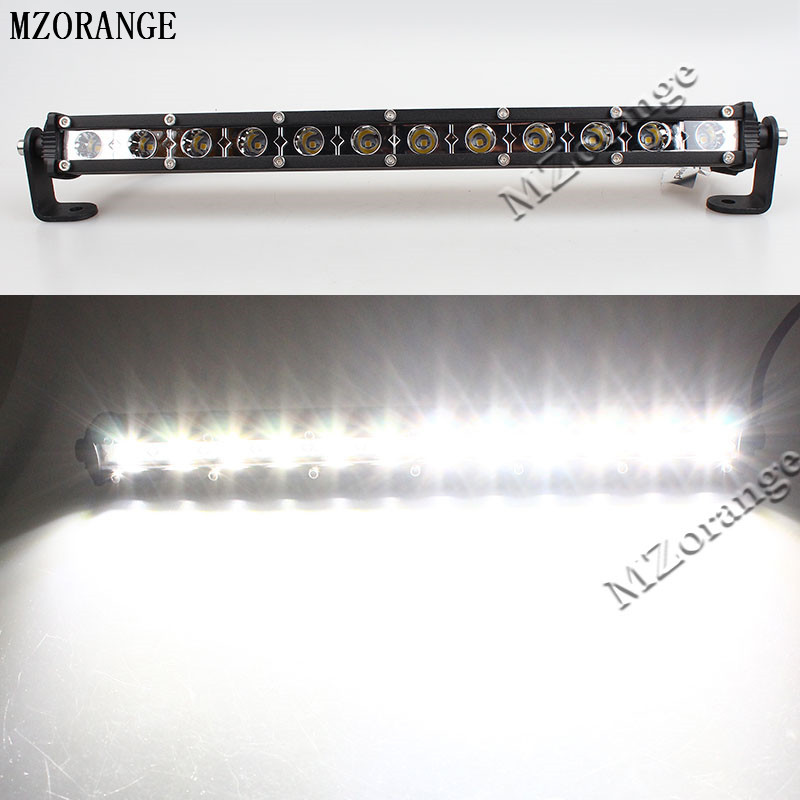 MZORANGE Car Styling 13Inch 12 LED Car Work Light Bar 12V Day Lamp 36W For Tractor Work Lamp Spot Type DRL For Jeep Super Bright<br>