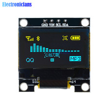 0.96 inch IIC Serial Yellow Blue OLED Display Module 128X64 I2C SSD1306 12864 LCD Screen Board GND VCC SCL SDA for Arduino STM32(China)