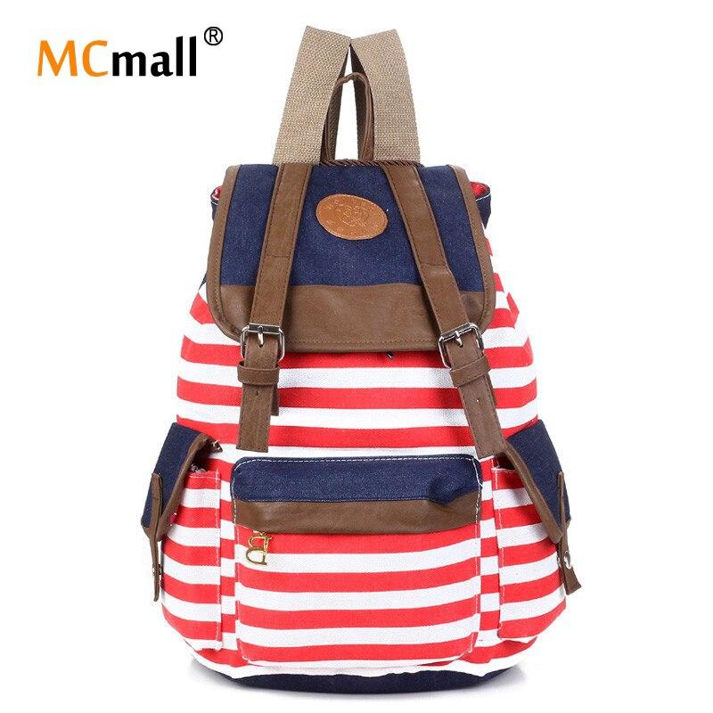 2017 Women Leisure Backpack Fashion Canvas School Back Pack Vintage Casual Bag backpack women bagpack BD-108<br><br>Aliexpress
