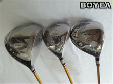 Boyea 4 Star Honma S-03 Wood Set Golf Woods Golf Clubs Driver +Fairway Woods R/S/SR Flex Graphite Shaft With Head Cover