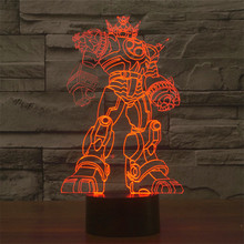Transformers  LED Table Lamp 3D illusion  USB Touch switch Night light Acrylic Study room decor night lamp child kid gift