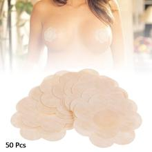 50pcs Breast Petals Flower Sexy Disposable Soft Nipple Covers Tape Stick On Bra Pad Pastie For Women Intimate Accessories