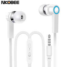 NKOBEE J3 In-Ear Earphone For Apple iPhone Stereo Earbuds headset With Microphone Sport Earphone For Xiaomi Samsung Earphones