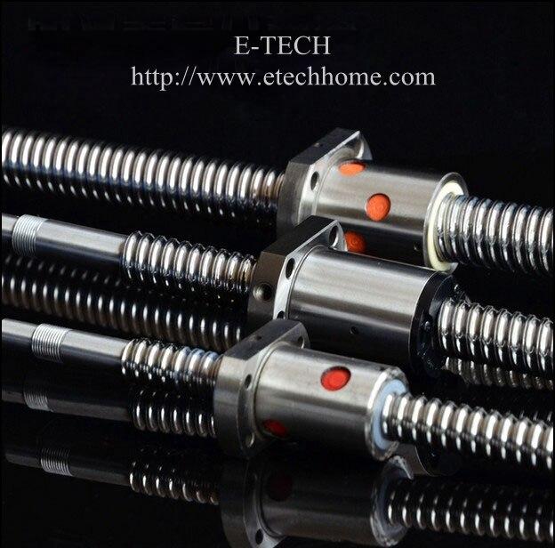 2Pcs/Lot! SFU1604 Ballscrew Set :Ball screw SFU1604 Length 200mm End Machined for BK12 BF12 +SFU1604 Ball Nut<br>