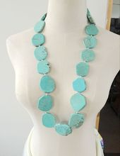 Wholesale Single Necklace, Chunky Statement Natural Stone Necklace(China)