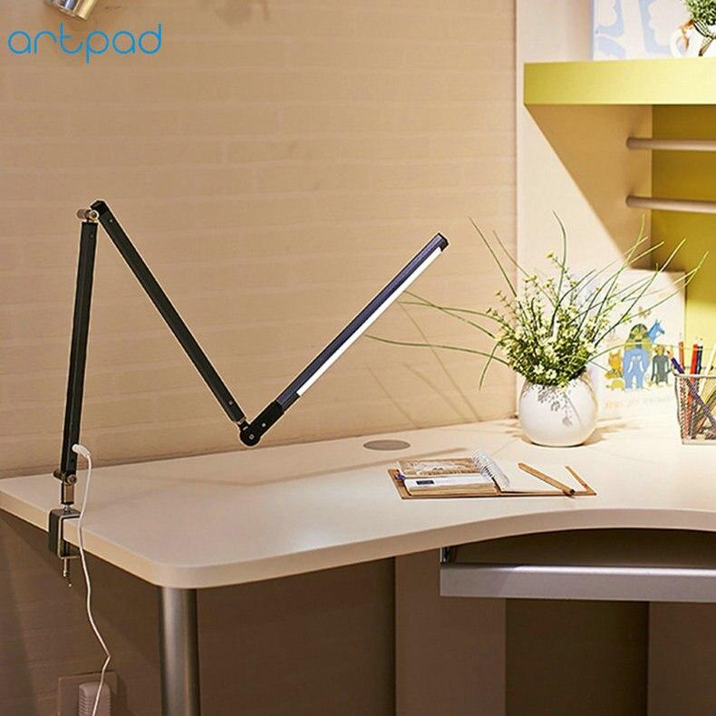 Artpad Energy Saving Modern LED Desk Lamp Dimmer Eye Care Swing Long Arm Business Office Study Desktop Light for Table Luminaire 3