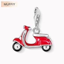 Scooter Italian Vespa Dolce Vita Charm,Ts Gift In 925 Sterling Silver Fit Bracelet,Thomas Club Good Jewelry For Men & Women