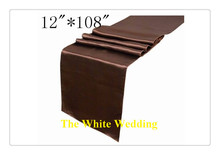 36 piece wedding decor table runners For Wedding FREE SHIPPING BLACK(China)
