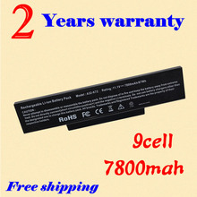JIGU New 6600 mah laptop Battery For Asus A72 K72 K73 N71 N73 X77 Series 9 cells