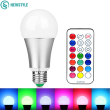 12W RGB White LED Bulb E27 Dimmable LED Lamp Light AC 85-265V 120 Colors Remote Control with Memory Function(China)